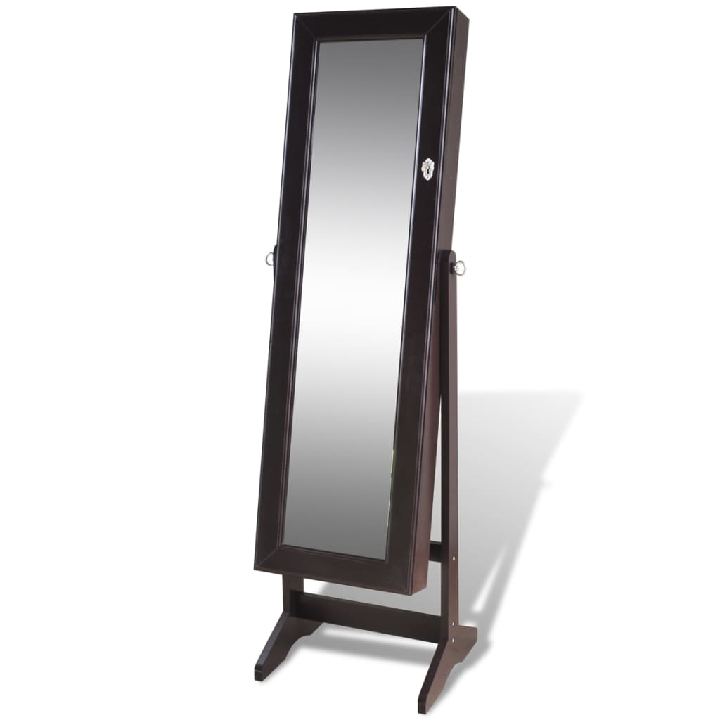 la boutique en ligne armoire bijoux avec miroir brun. Black Bedroom Furniture Sets. Home Design Ideas