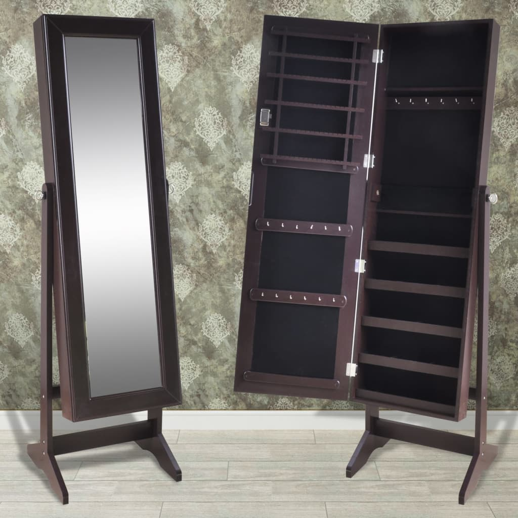 4 Colours Jewellery Mirror Cabinet Storage Box Jewelry