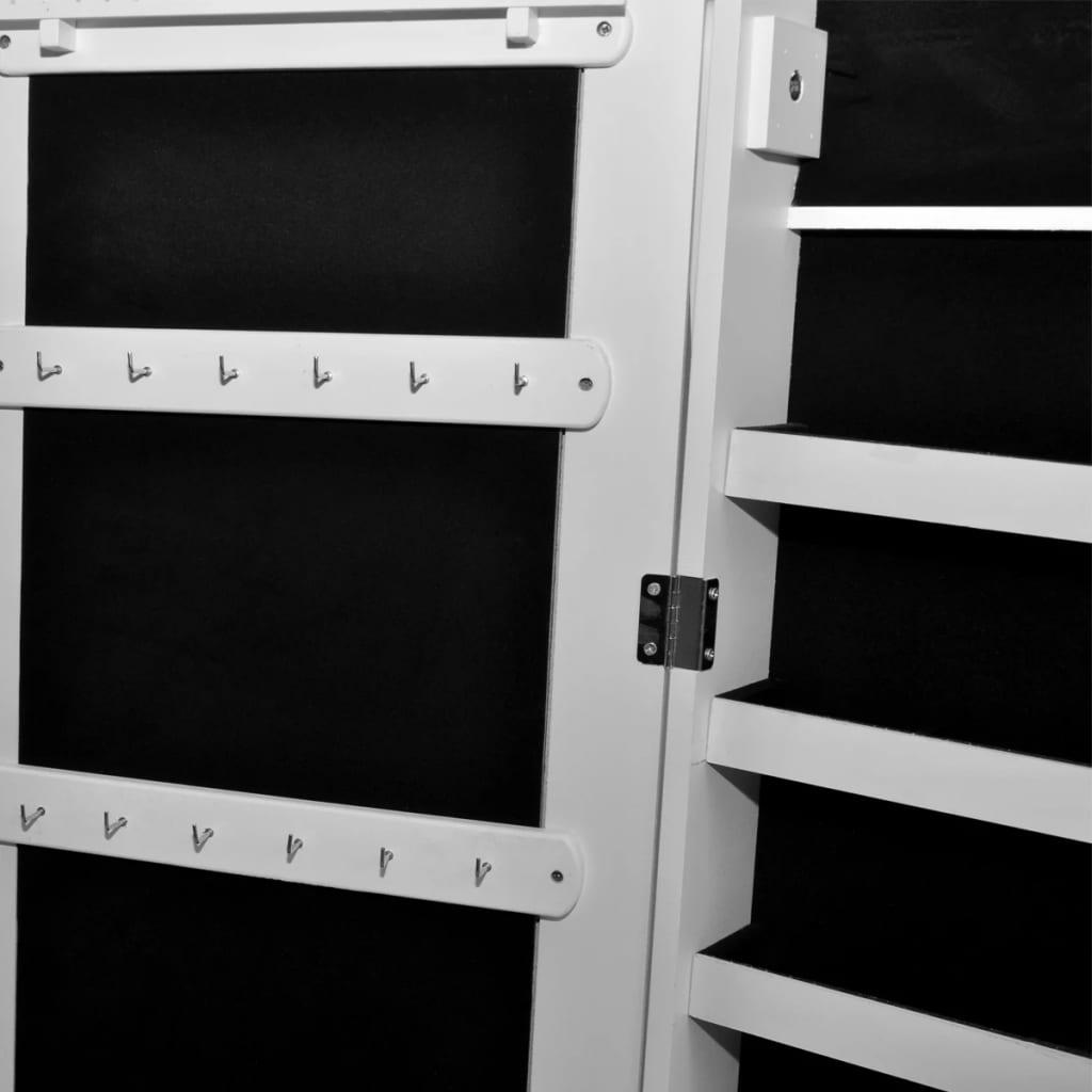 der wei er spiegelschrank mit schmuckst nder led licht online shop. Black Bedroom Furniture Sets. Home Design Ideas