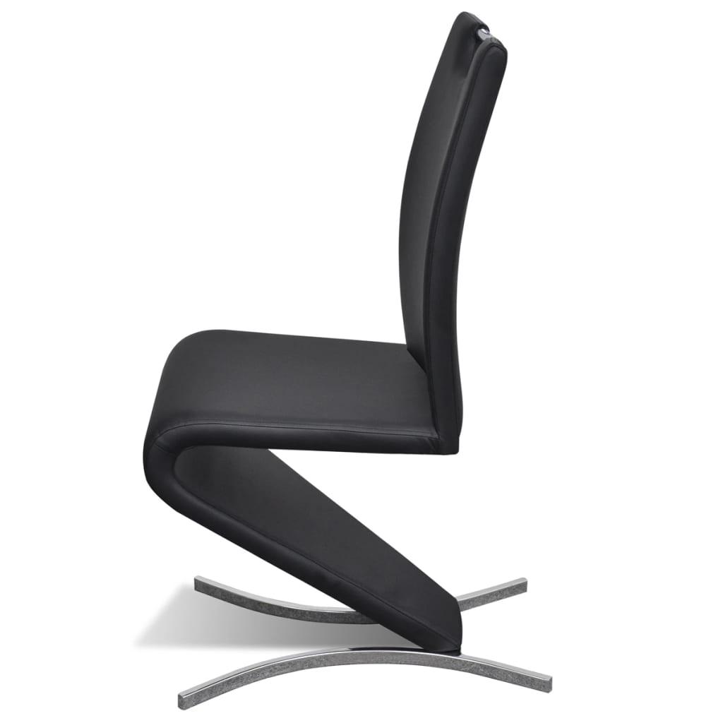 La boutique en ligne chaise en simili cuir cantilever avec for Chaise 3 pieds