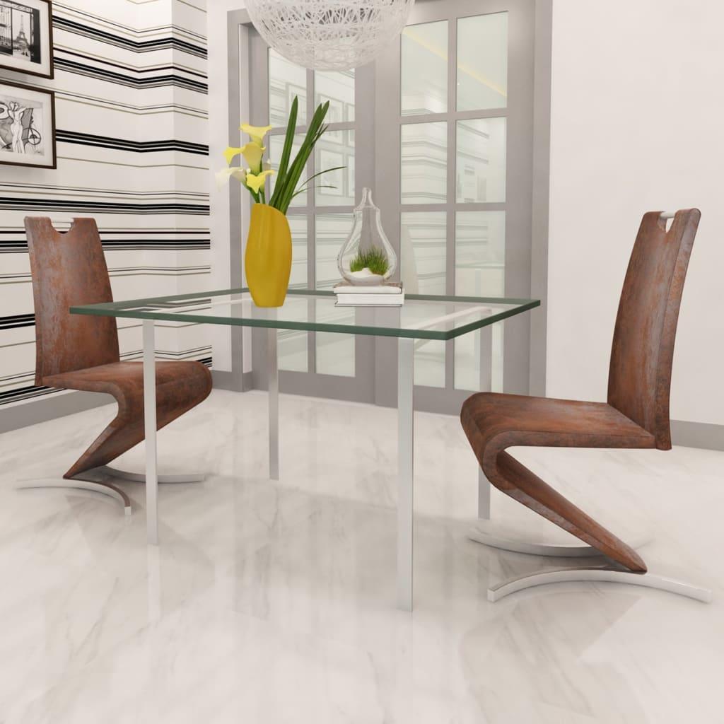 Vidaxl 2x sedia cantilever in similpelle marrone ad h seggiola sedia a sbalzo eur 121 99 - Sedia cantilever ...