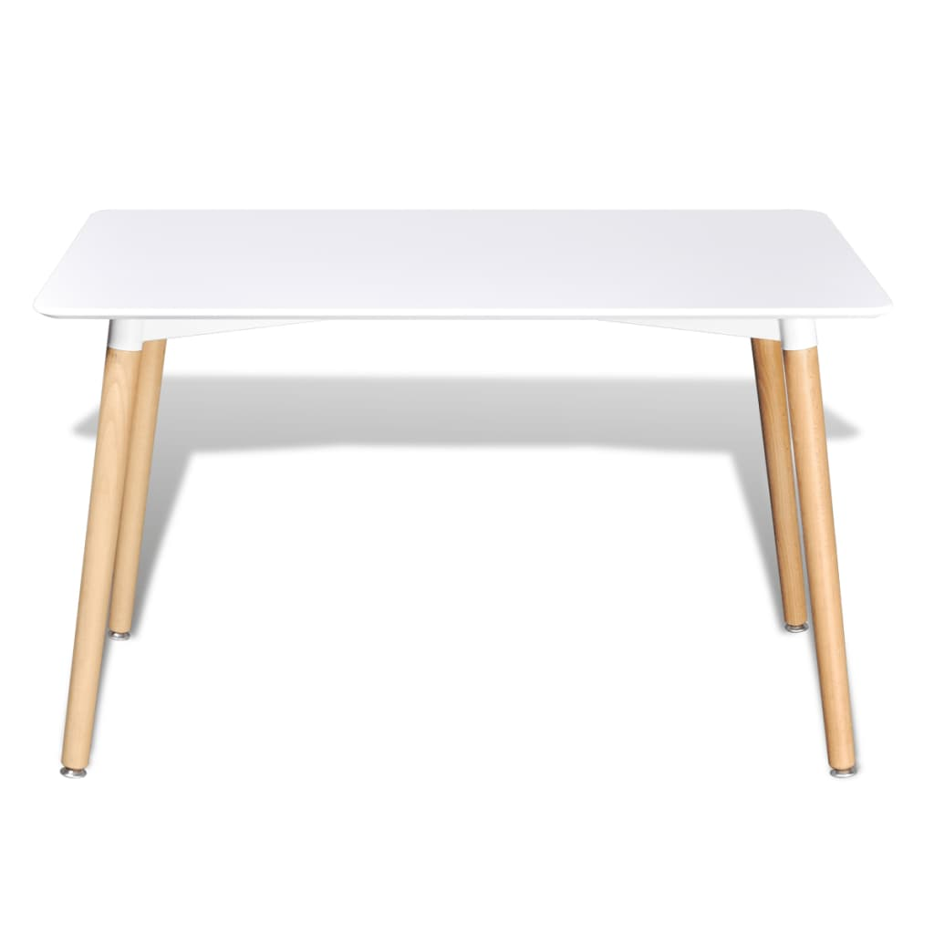 Matte white rectangular dining table for White dining table