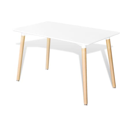 La boutique en ligne table rectangulaire blanc mat for Table blanc mat