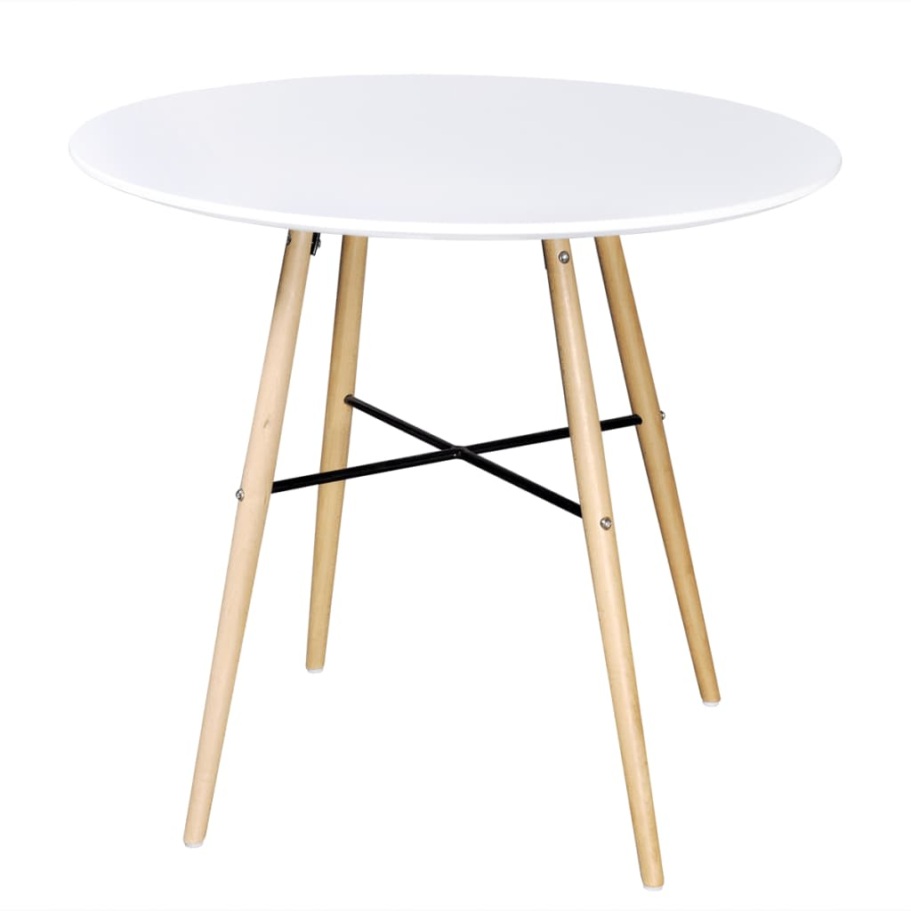 Eettafel rond mat wit online kopen for Eettafel rond