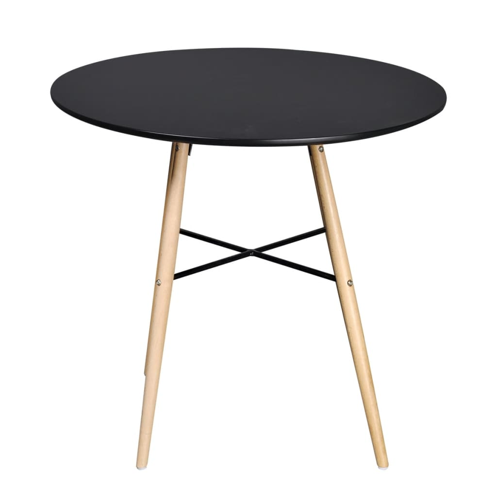 la boutique en ligne table de salle manger ronde noire. Black Bedroom Furniture Sets. Home Design Ideas