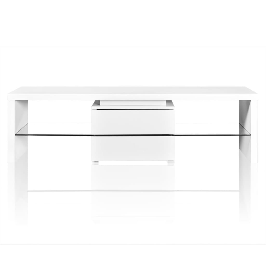 La boutique en ligne meuble tv led blanc brillant 150 cm - Meuble tv blanc brillant ...