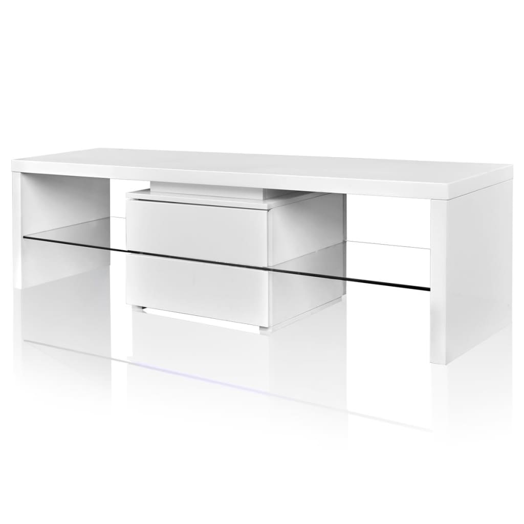 acheter meuble tv led blanc brillant 150 cm pas cher. Black Bedroom Furniture Sets. Home Design Ideas