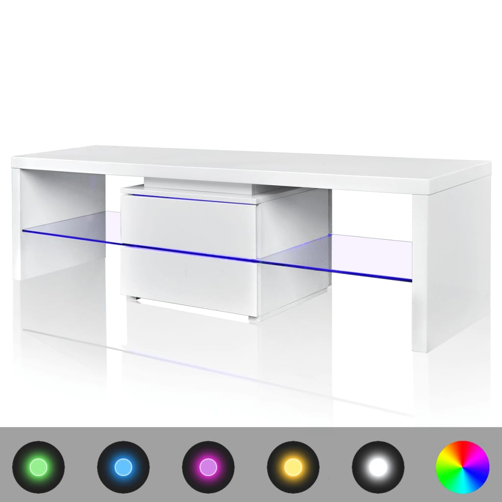 led hoogglans tv meubel 150 cm wit. Black Bedroom Furniture Sets. Home Design Ideas