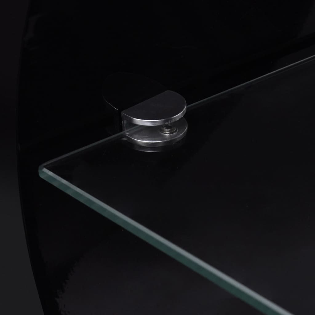 vidaXLcouk  High Gloss Black Coffee TableTV Stand Oval -> Meuble Tv Oval