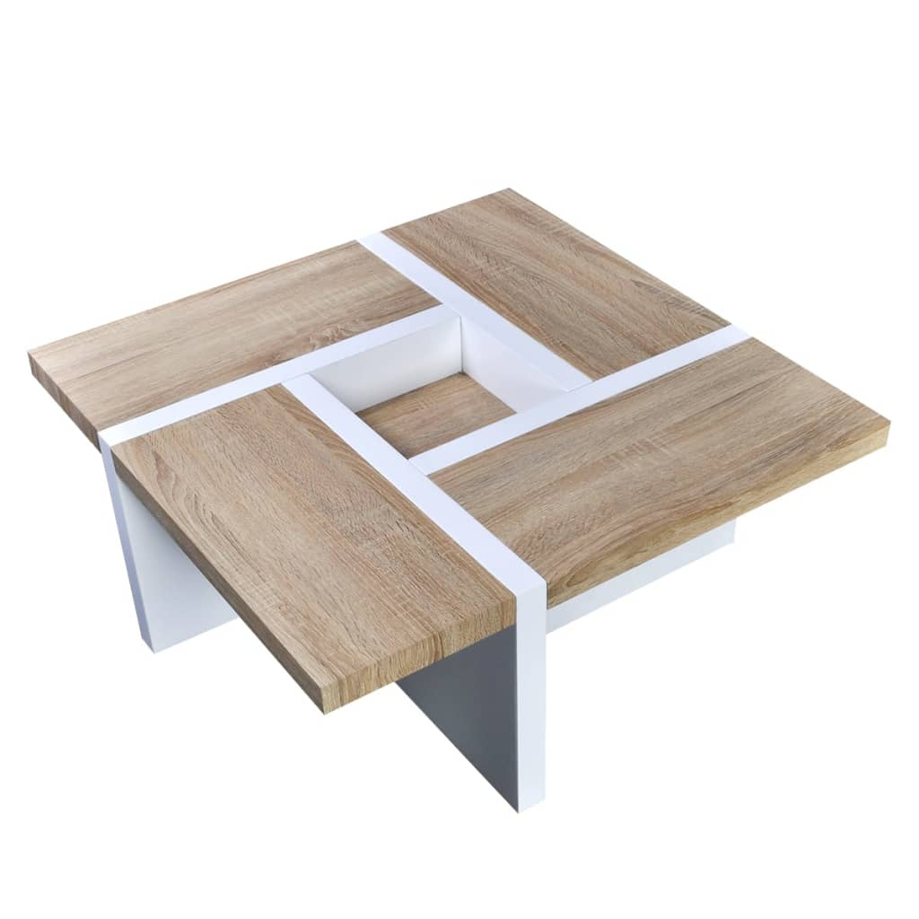 La boutique en ligne table basse ch ne blanc brillant for Table basse scandinave en chene