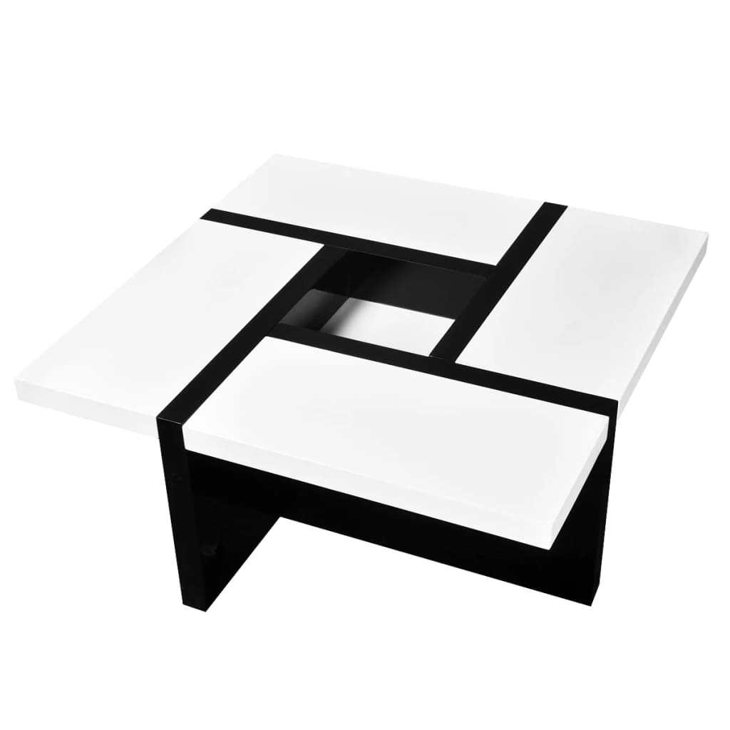 la boutique en ligne table basse coloris blanc noir. Black Bedroom Furniture Sets. Home Design Ideas