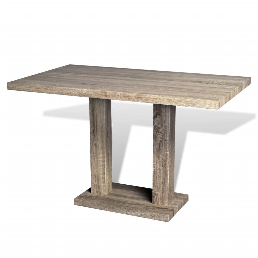 vidaXL Stół z MDF stylizowany na dębowy