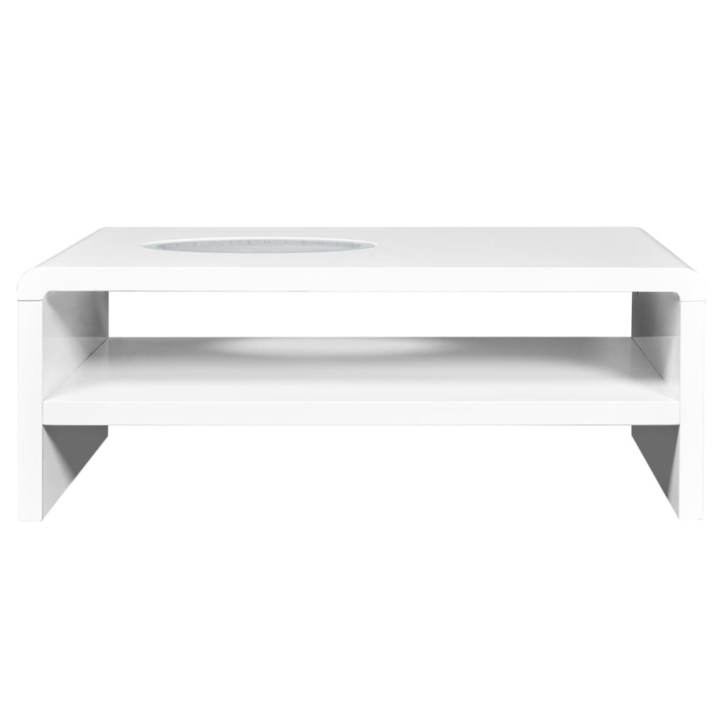 la boutique en ligne table basse led blanc brillant 42 cm. Black Bedroom Furniture Sets. Home Design Ideas
