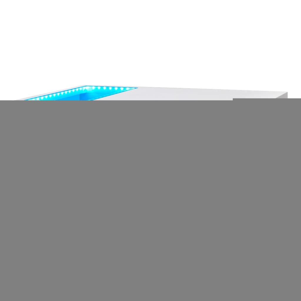 acheter table basse led blanc brillant 41 5 cm pas cher. Black Bedroom Furniture Sets. Home Design Ideas
