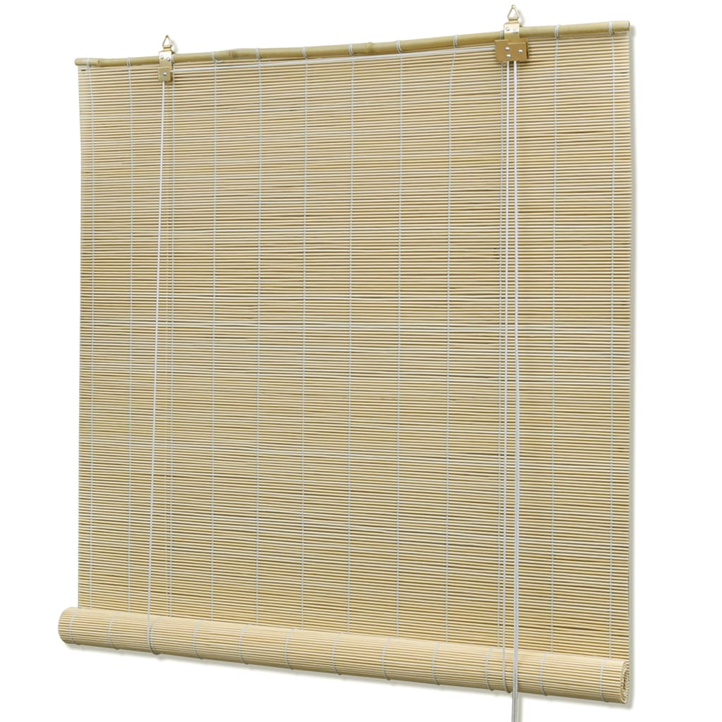 natural bamboo roller blinds 80 x 160 cm. Black Bedroom Furniture Sets. Home Design Ideas