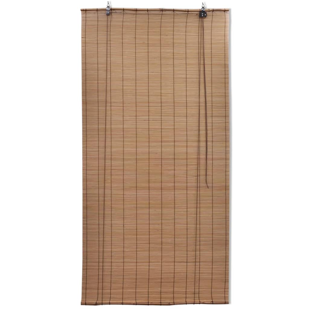 brown bamboo roller blinds 80 x 160 cm. Black Bedroom Furniture Sets. Home Design Ideas