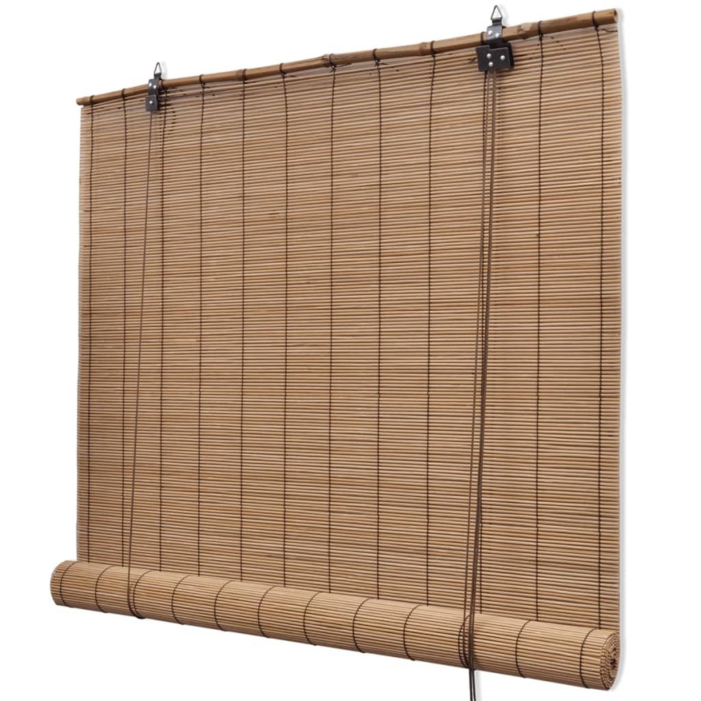 brown bamboo roller blinds 80 x 160 cm. Black Bedroom Furniture Sets. Home Design Ideas