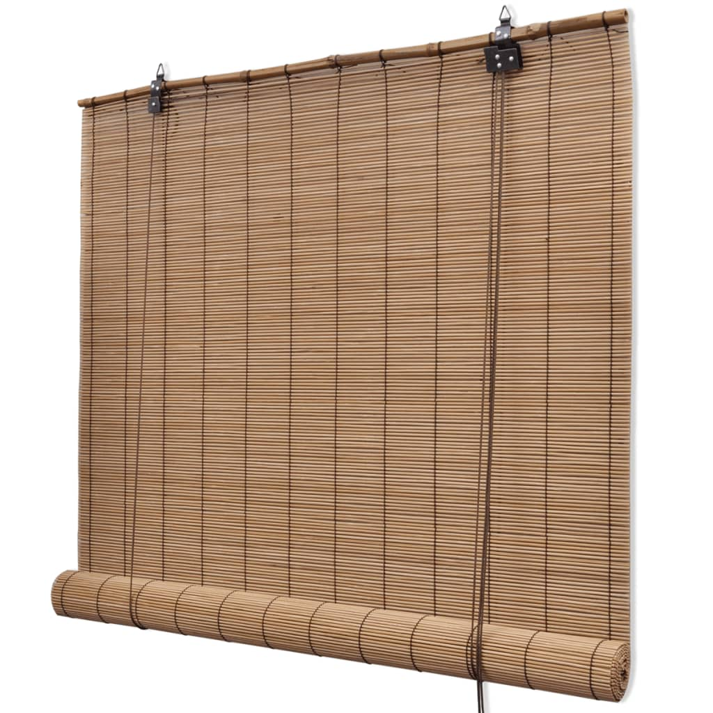 brown bamboo roller blinds 120 x 160 cm. Black Bedroom Furniture Sets. Home Design Ideas