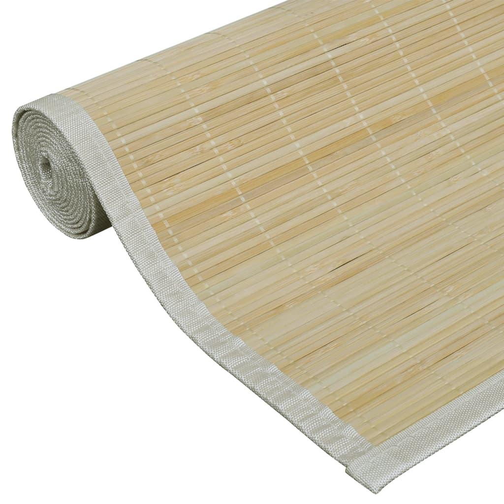 tapete quadrado de bambu natural 80 x 200 cm. Black Bedroom Furniture Sets. Home Design Ideas