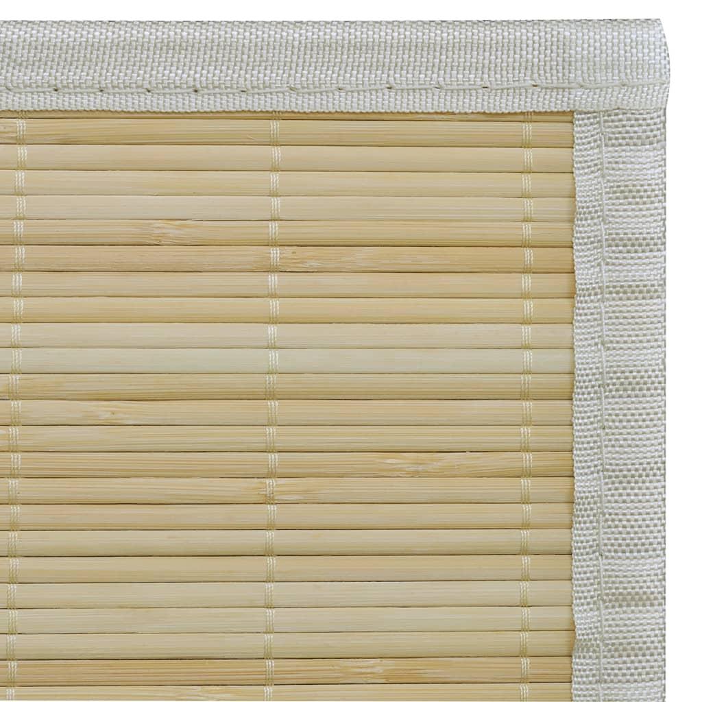 fyrkantig naturlig bambumatta 80 x 300 cm. Black Bedroom Furniture Sets. Home Design Ideas