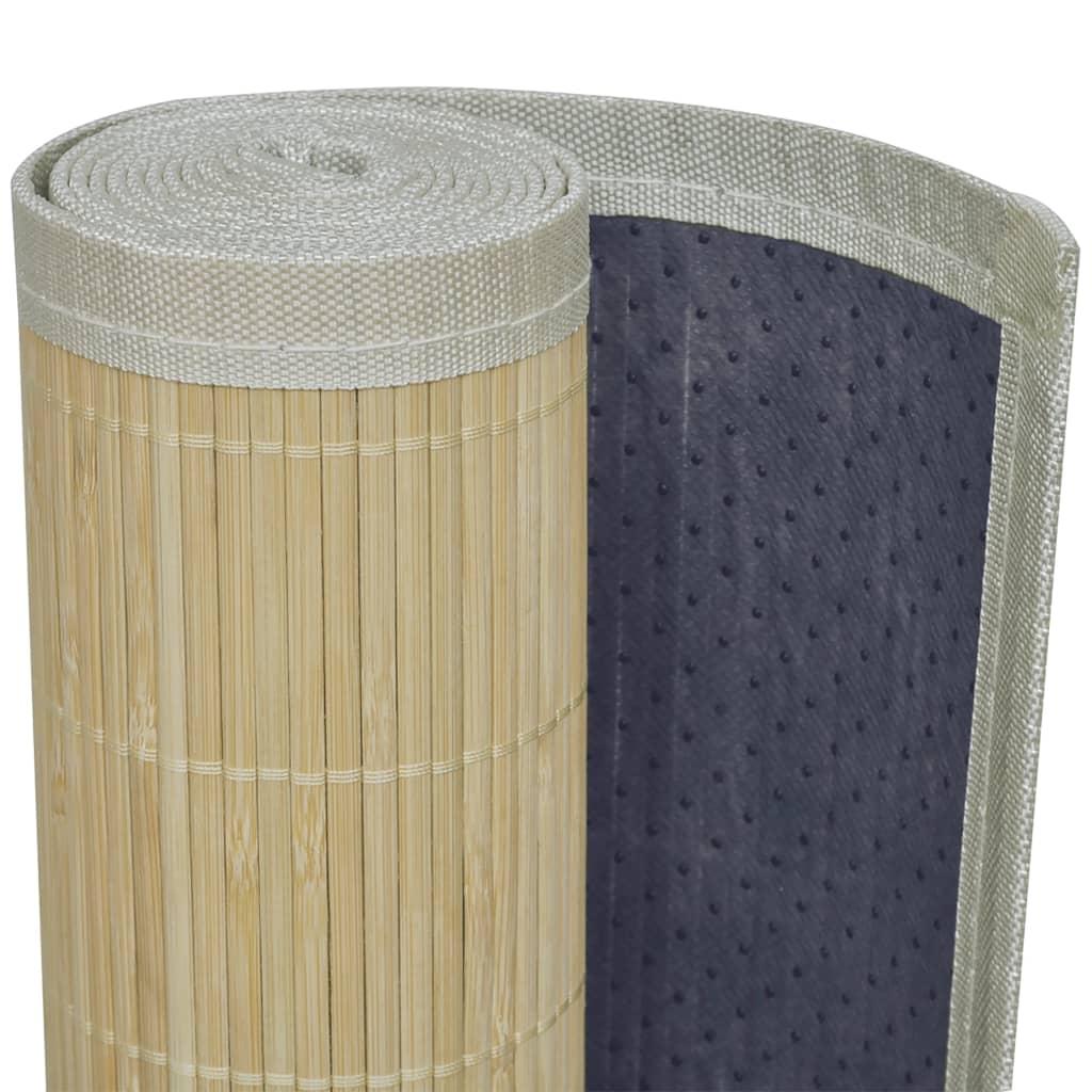 La boutique en ligne tapis en bambou naturel latte rectangulaire 120 x 180 - Tapis bambou 120x180 ...