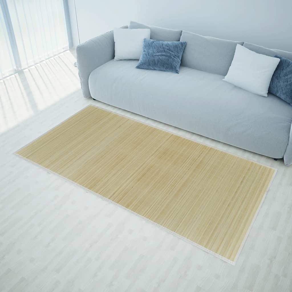 vidaXL Szögletes Természetes Bambusz Szőnyeg 120 x 180 cm
