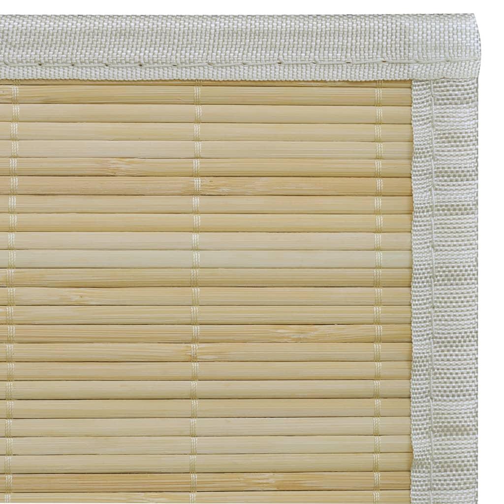 Alfombra de bamb natural rectangular 150 x 200 cm tienda - Alfombra de bambu ...