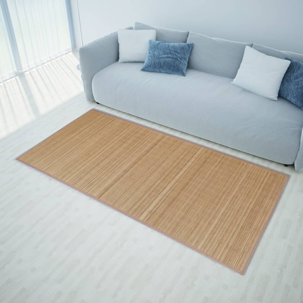 Vidaxl alfombra bamb natural rectangular sal n de - Alfombras de bambu a medida ...