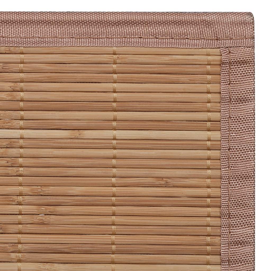 Alfombra de bamb natural rectangular color marr n 80 x 300 cm tienda online - Alfombras bambu colores ...