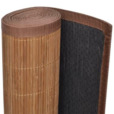 Alfombra de bamb natural rectangular color marr n 80 x - Alfombra de bambu ...