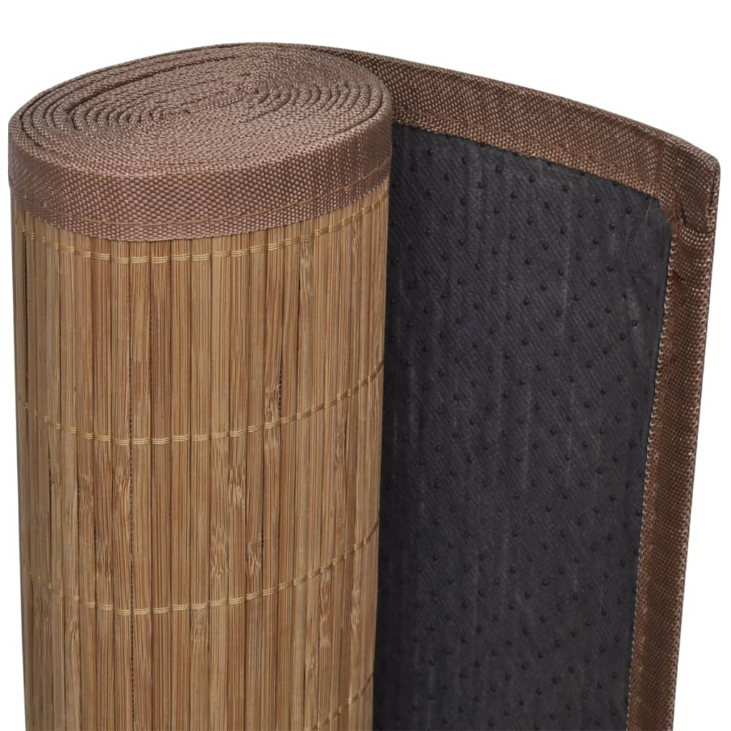 acheter tapis en bambou brun latte rectangulaire 120 x. Black Bedroom Furniture Sets. Home Design Ideas