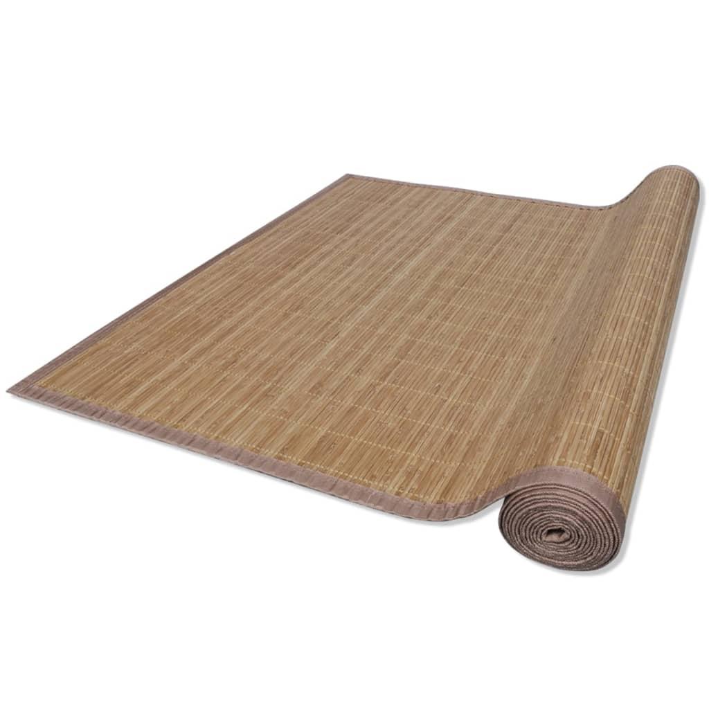 Alfombra de bamb natural rectangular color marr n 120 x - Alfombra de bambu ...