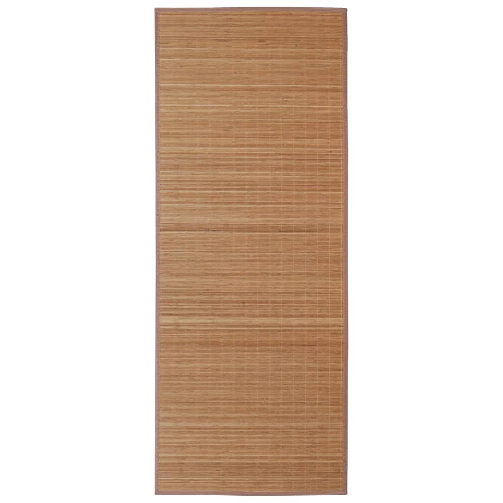 Rectangular brown bamboo rug 150 x 200 cm for Schlafsofa 150 x 200