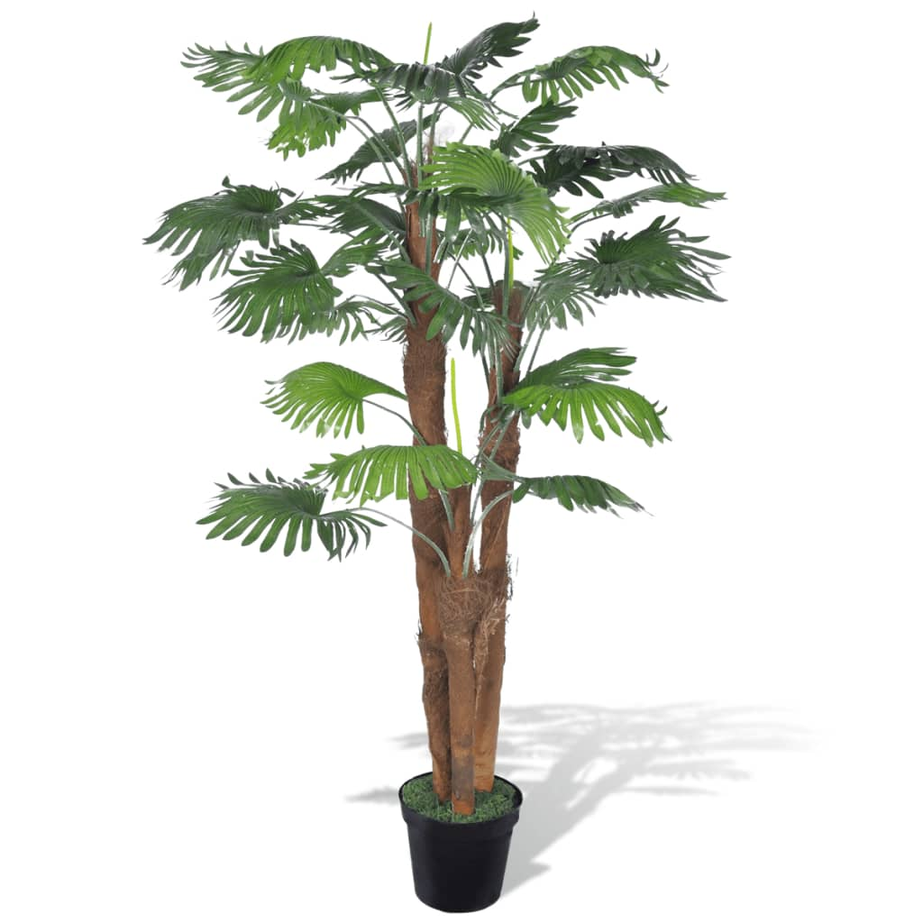 vidaXL Artificial Fan Palm Tree with Pot 71""