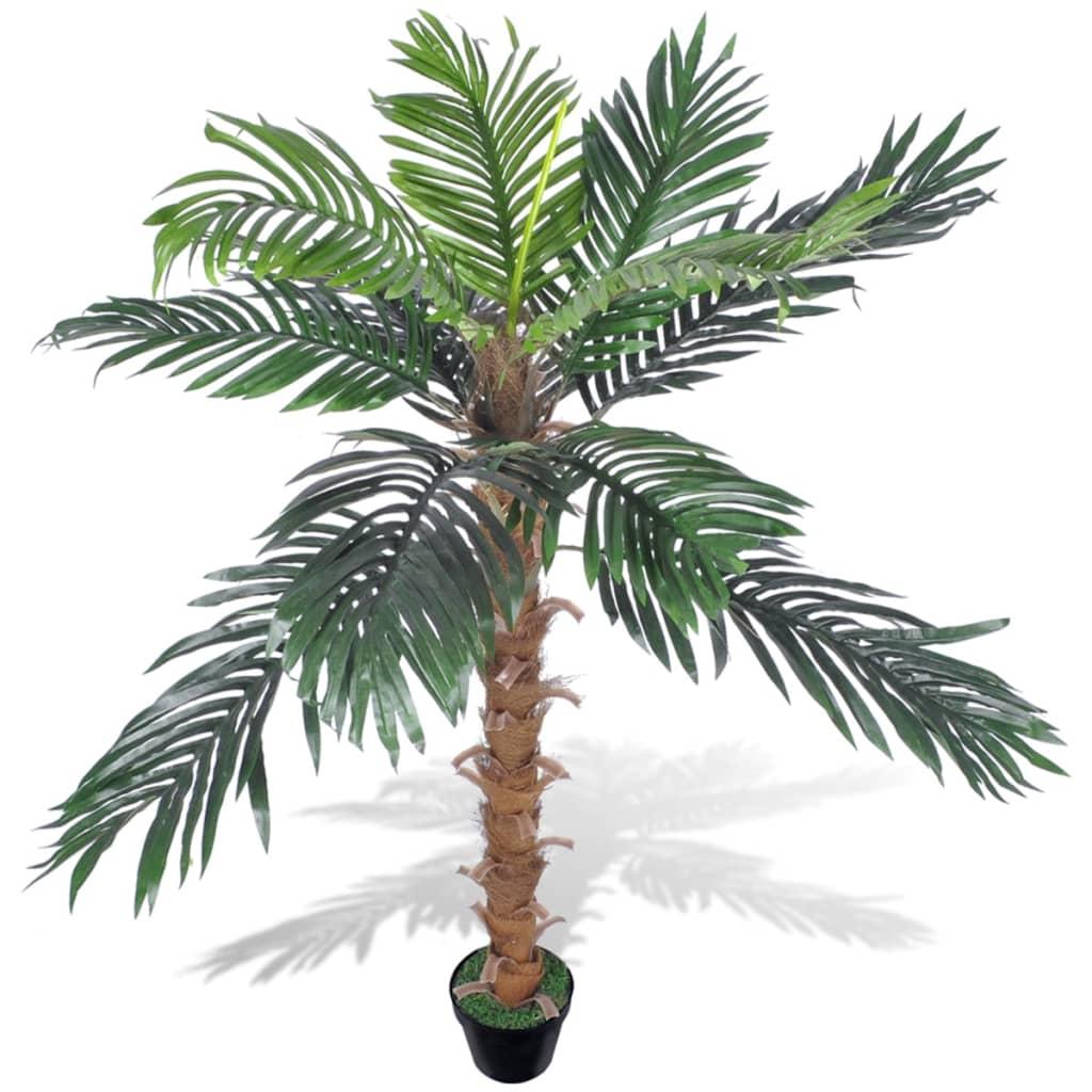 Acheter palmier artificiel plastique avec pot 140 cm pas for Palmier artificiel moins cher