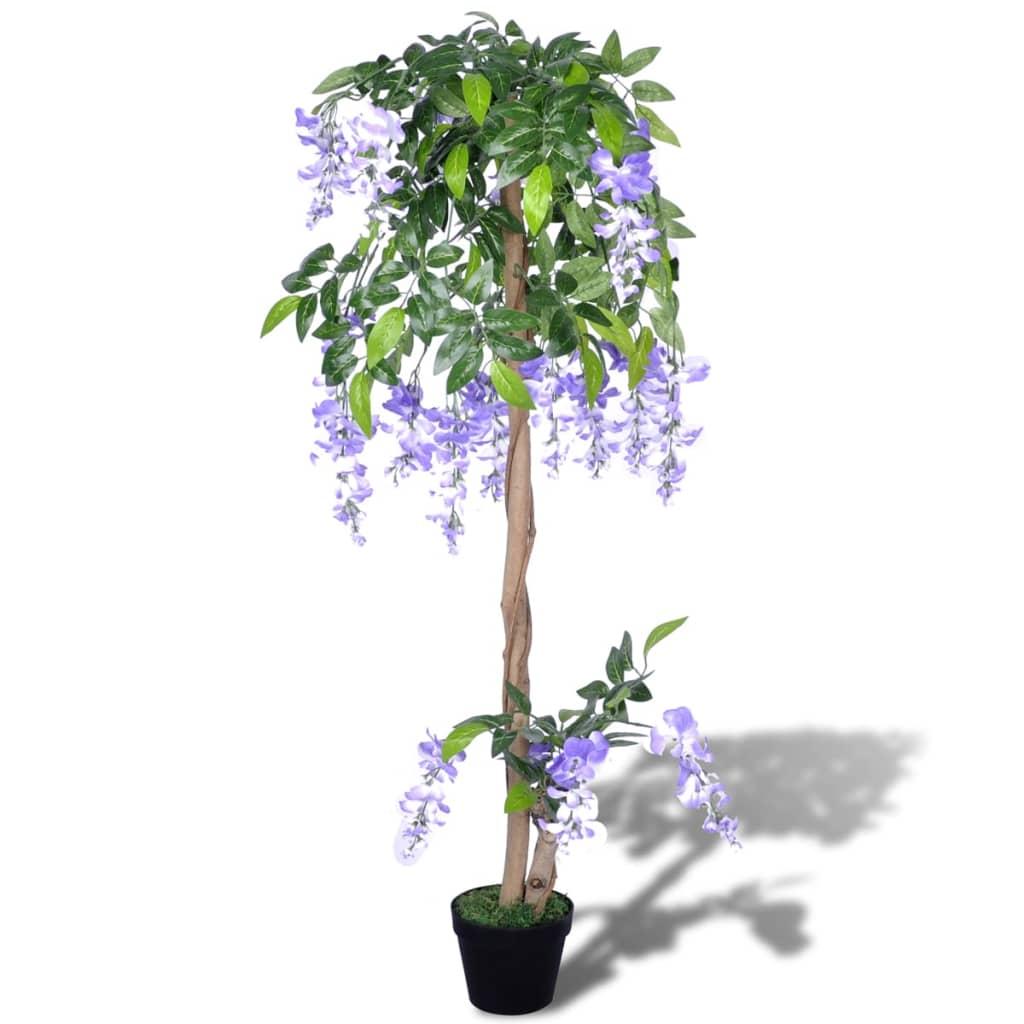 Acheter wisteria artificiel avec pot 120 cm pas cher for Plante artificielle solde
