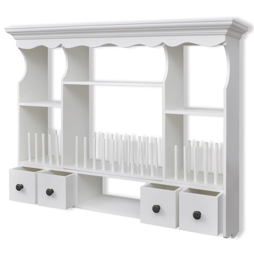White Kitchen Shelf: NEW White Wooden Kitchen Wall Cabinet Cupboard Storage