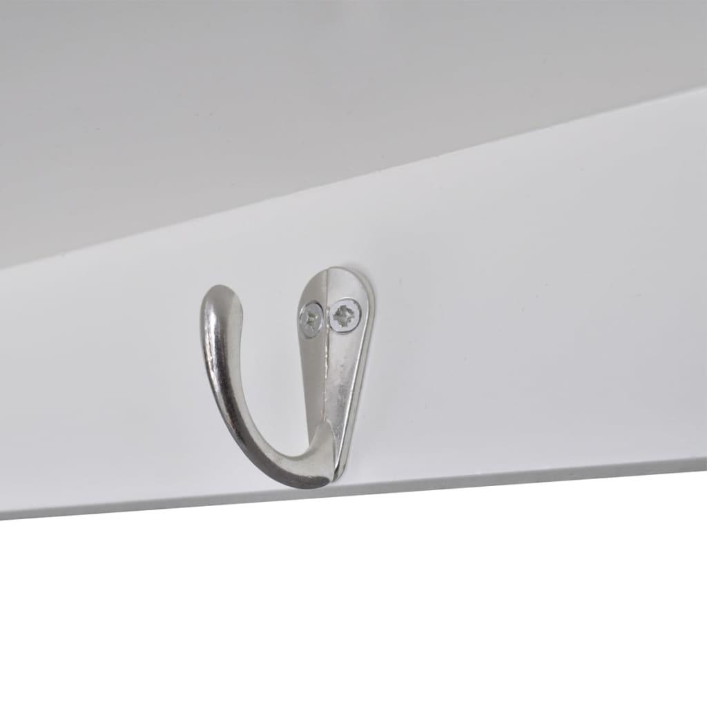 White-Wooden-Kitchen-Wall-Cabinet-Cupboard-Storage-Shelf-Display-Unit-Home
