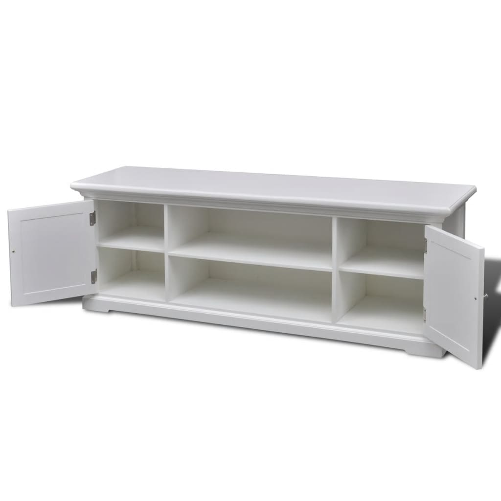 New-Modern-Large-White-Wooden-TV-Stand-Cabinet-Home-Storage-Entertainment-Center