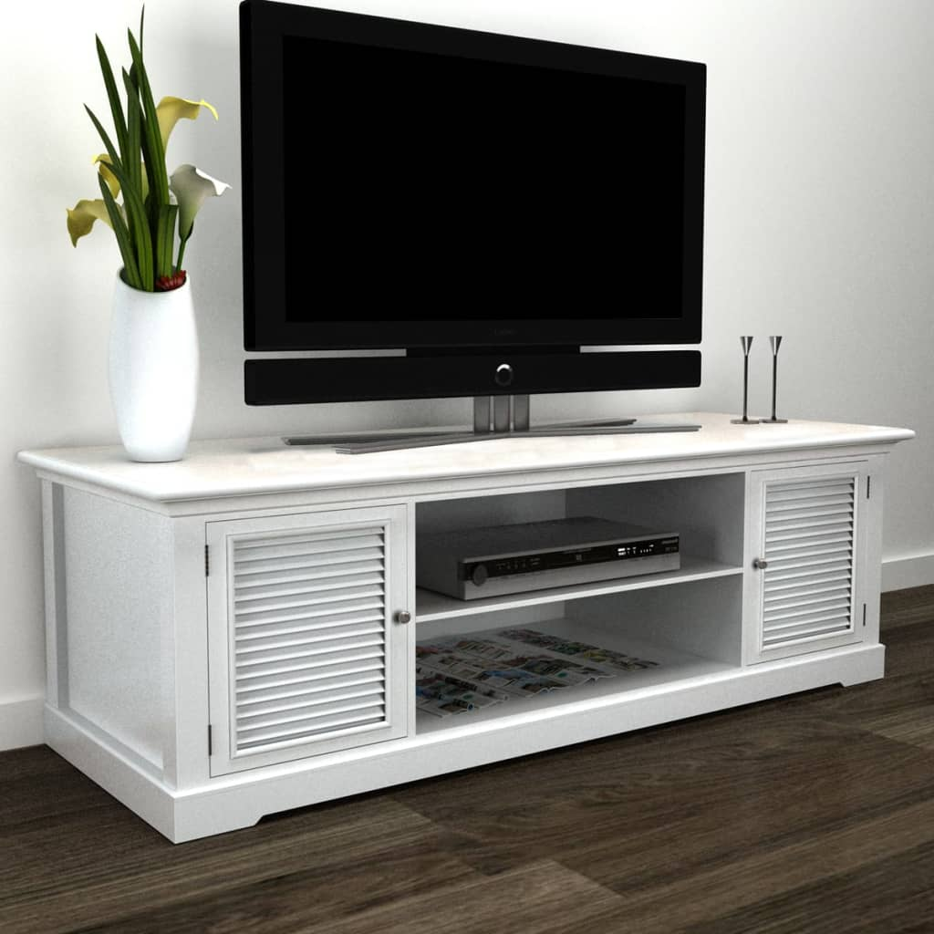 acheter meuble tv blanc en bois pas cher. Black Bedroom Furniture Sets. Home Design Ideas