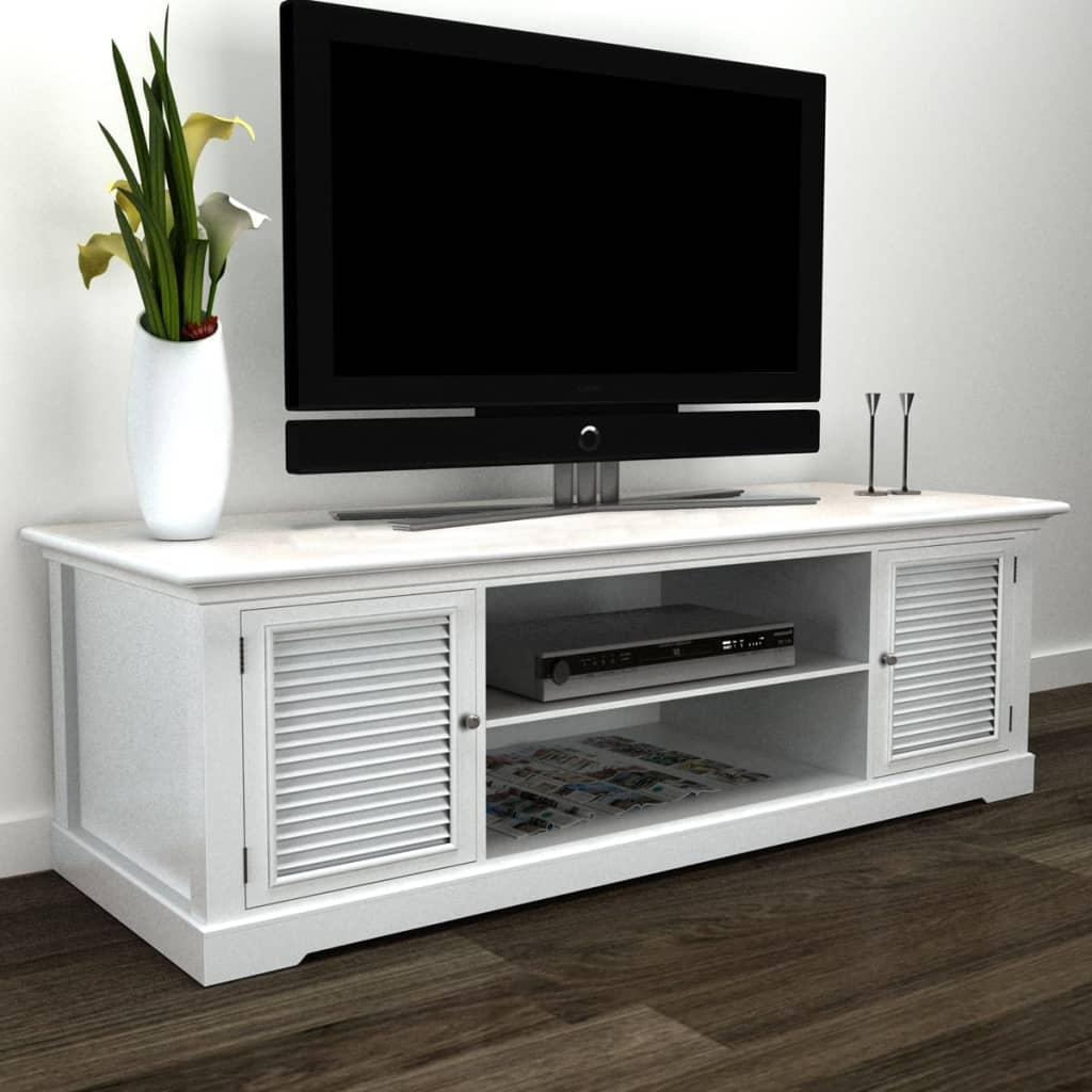 vidaXL-Mueble-TV-De-Madera-Blanco-Consola-TV-Soporte-Sala-Muebles-Aparador-De-TV