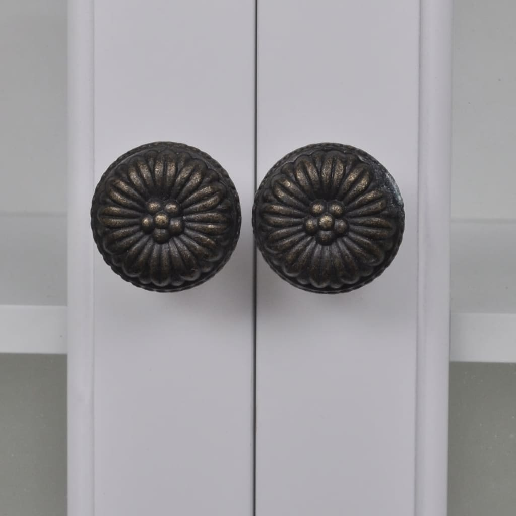 White wooden kitchen wall cabinet with for Kitchen shelves and cupboards