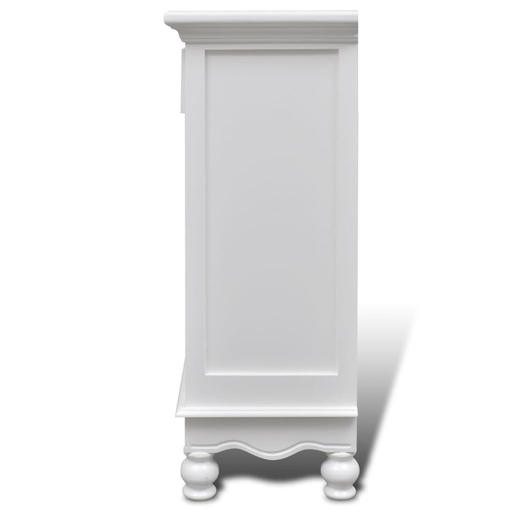 Acheter cabinet blanc en bois 2 portes 1 tiroir pas cher for Acheter porte en bois