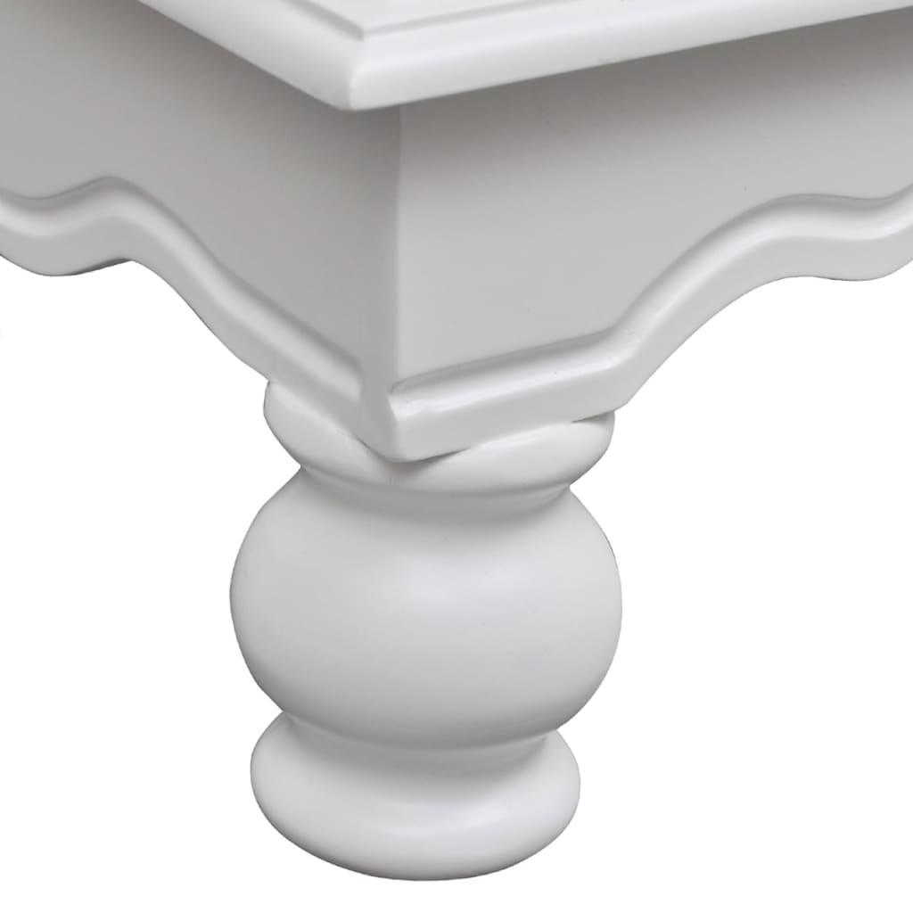 Cabide branco de madeira com 2 portas e 1 gaveta www.vidaxl.pt #676664 1024x1024