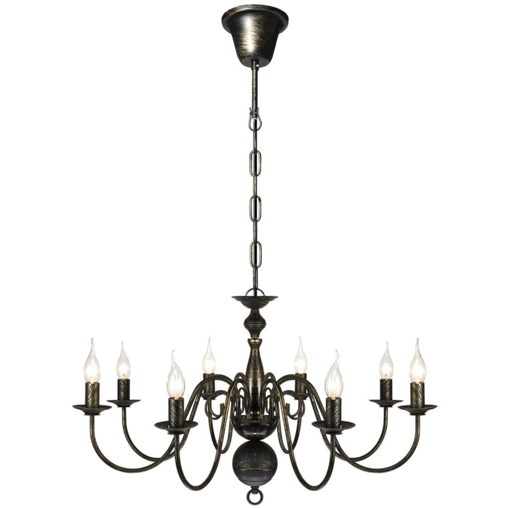 vidaXL Kroonluchter Antiek Metaal Zwart Plfondlamp Lamp Hang Verlichting Licht