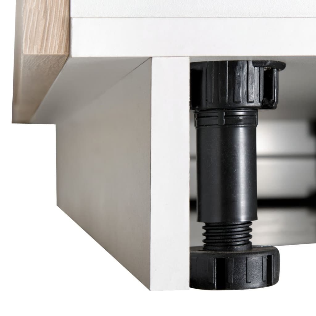 Kitchen Sink Base Unit: Oak Look Kitchen Cabinet With Base Unit For Sink 8 Pcs