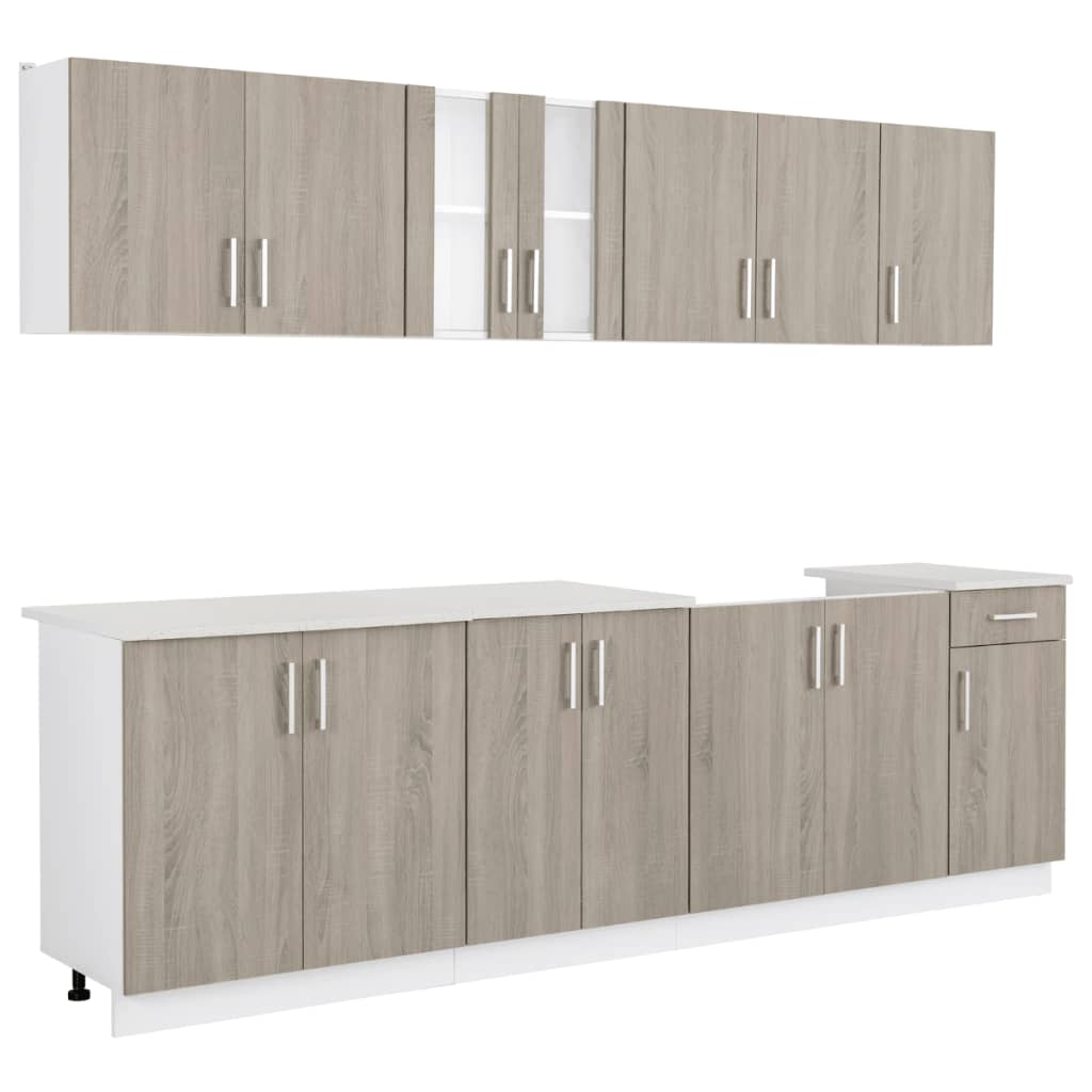 oak look kitchen cabinet with base unit for On oak kitchen base units