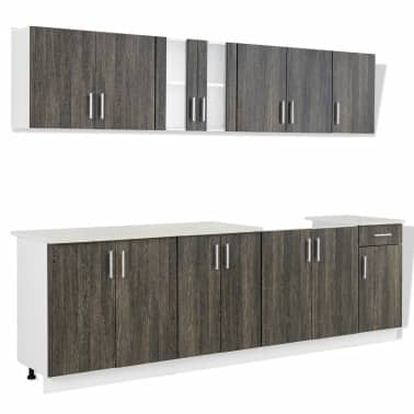 Co uk wenge look kitchen cabinet with base unit for sink 8 pcs
