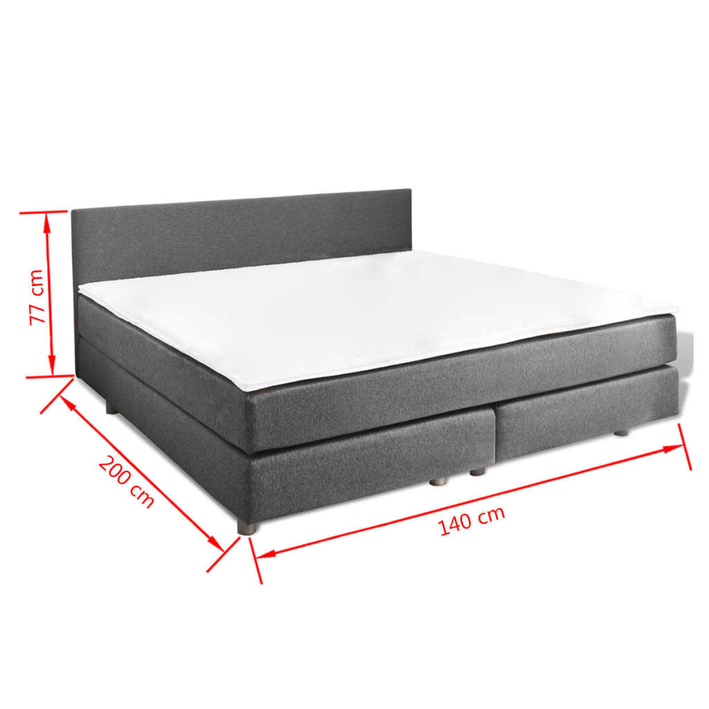 la boutique en ligne lit adulte avec matelas ressort 200 x 140 cm. Black Bedroom Furniture Sets. Home Design Ideas