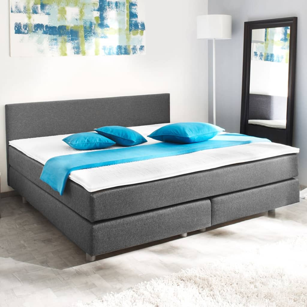 acheter lit adulte avec matelas ressort 200 x 140 cm pas. Black Bedroom Furniture Sets. Home Design Ideas
